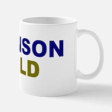 Johnson-Weld dark text Mugs