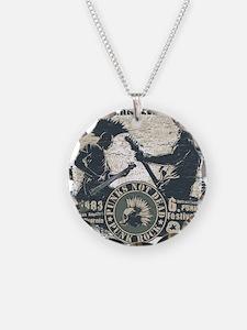 Vintage Punks not dead Puck Necklace Circle Charm