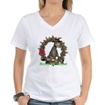Donkey Women's V-Neck T-Shirt
