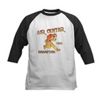 Air Guitar Champion (vintage) Kids Baseball Jersey