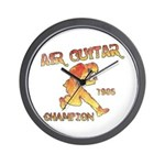 Air Guitar Champion (vintage) Wall Clock