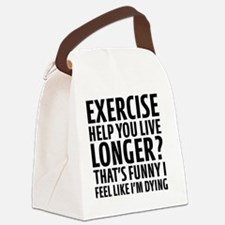 Cool Cardio Canvas Lunch Bag