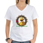 Eggbert Women's V-Neck T-Shirt