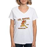 Air Guitar Champion (vintage) Women's V-Neck T-Shi