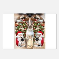 Ragdoll Cats for Christmas Postcards (Package of 8