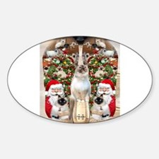 Ragdoll Cats for Christmas Decal