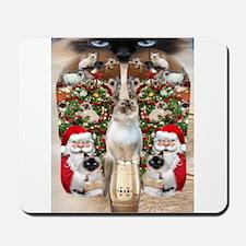 Ragdoll Cats for Christmas Mousepad