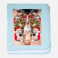 Ragdoll Cats for Christmas baby blanket