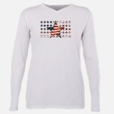 Cute 4th of july Plus Size Long Sleeve Tee