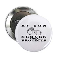 "Serves & Protects Cuffs - Son 2.25"" Button"