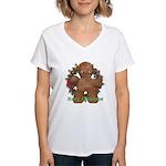 Gingerbread Man Women's V-Neck T-Shirt
