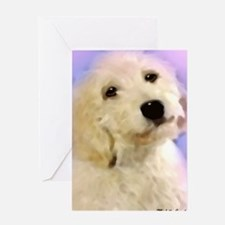 Cute Goldendoodle birthday Greeting Card