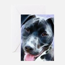 Cool Pit bull mom Greeting Card