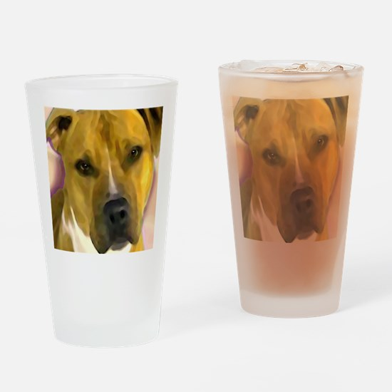 Funny Pit bull dad Drinking Glass
