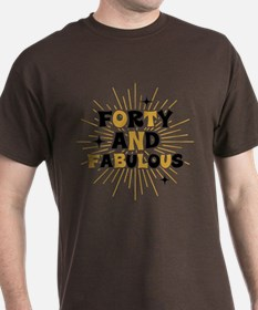 Retro Star Burst 40th Birthday T-Shirt