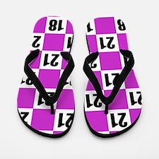 21st Birthday Checkerboard Flip Flops