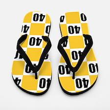 40th Birthday Checkerboard Flip Flops