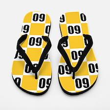 60th Birthday Checkerboard Flip Flops