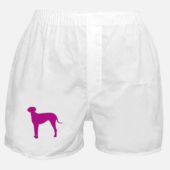 Italian greyhound dog silhouette Boxer Shorts