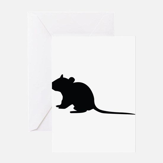 Rat silhouette Greeting Cards