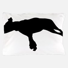 Jumping dog silhouette Pillow Case