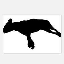 Jumping dog silhouette Postcards (Package of 8)
