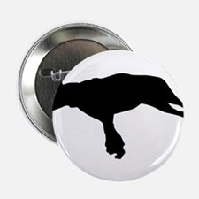 "Jumping dog silhouette 2.25"" Button"
