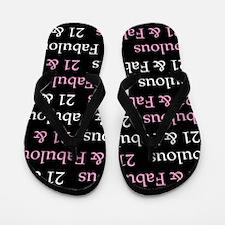 21 & Fabulous Birthday Flip Flops