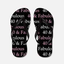 40 & Fabulous Birthday Flip Flops