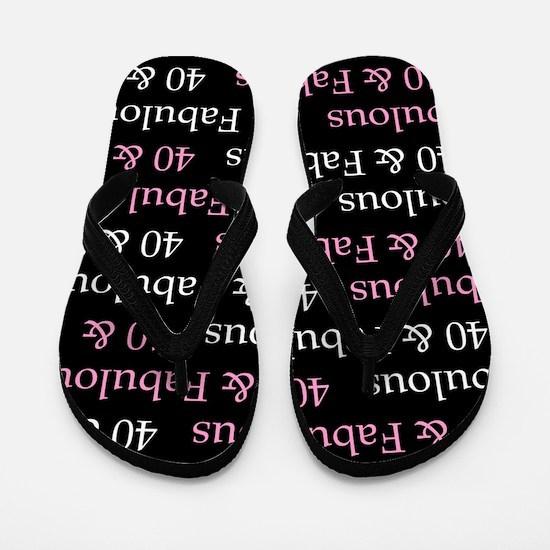 40 & Fabulous Birthday Flip Flops