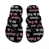 50th birthday for women Flip Flops