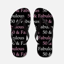 50 & Fabulous Birthday Flip Flops