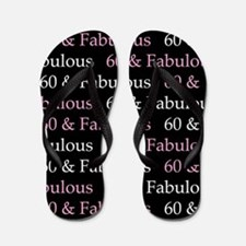 60 & Fabulous Birthday Flip Flops