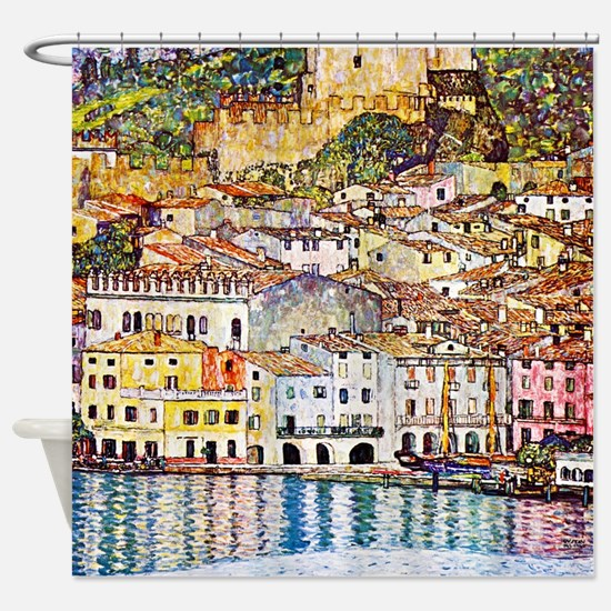 Klimt - Lake Garda Shower Curtain