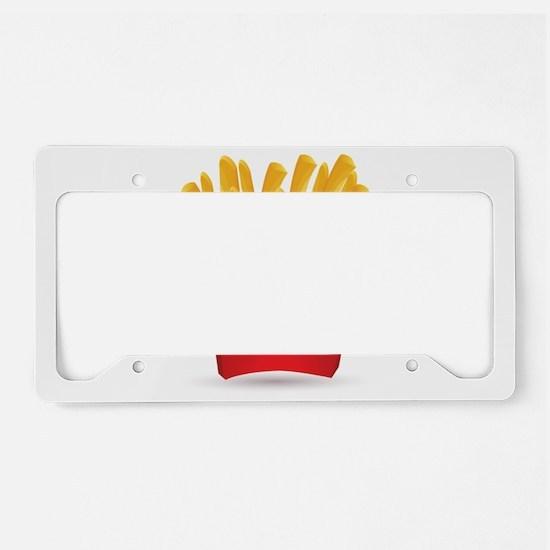 French fries art License Plate Holder