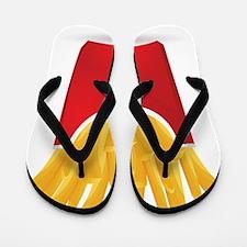 French fries art Flip Flops
