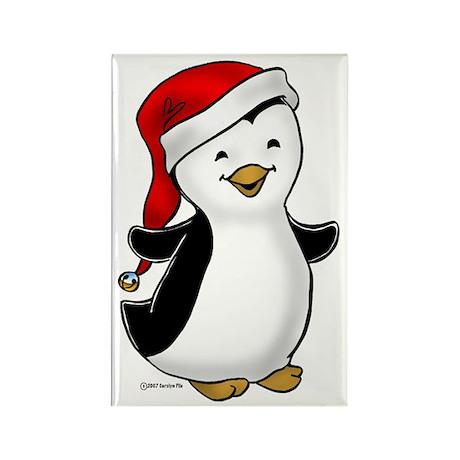 Jolly Penguin Rectangle Magnet