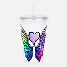 Unique Heart angel wings Acrylic Double-wall Tumbler
