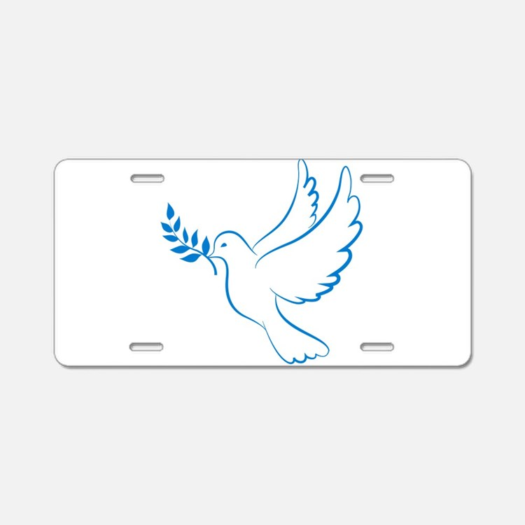 Dove of peace Aluminum License Plate