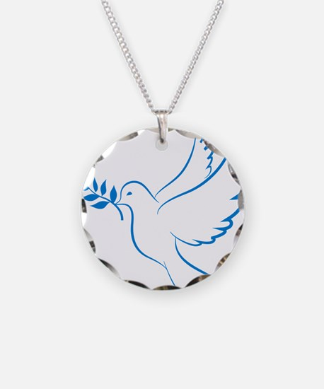 Dove of peace Necklace Circle Charm