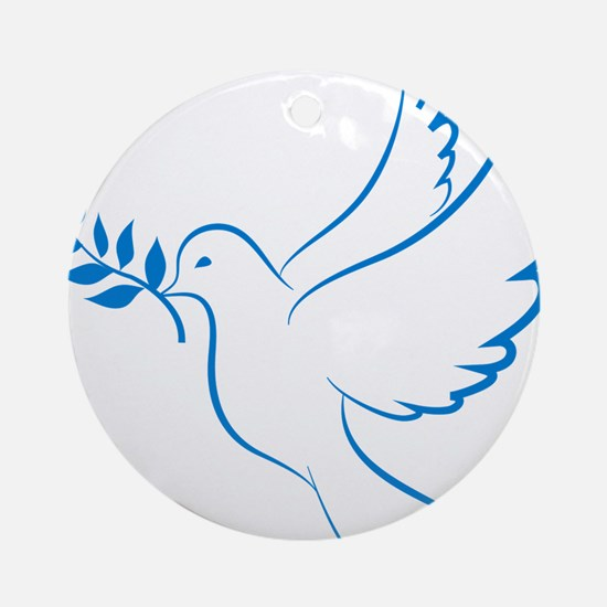 Dove of peace Round Ornament