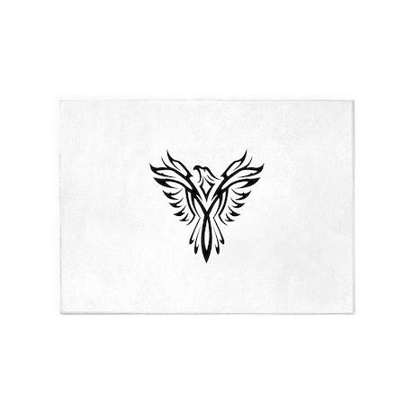 Phoenix Clip Art 5u0027x7u0027Area Rug