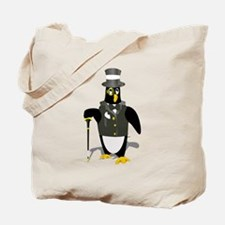 Penguin wearing tux clip art Tote Bag