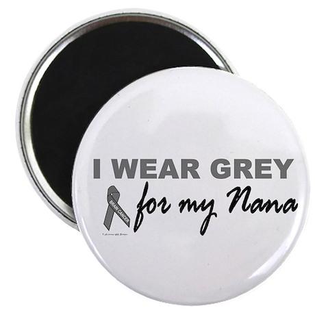 "I Wear Grey For My Nana 2 (BC) 2.25"" Magnet (100 p"