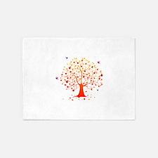 Autumn tree 5'x7'Area Rug
