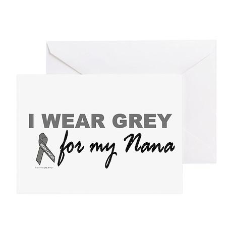 I Wear Grey For My Nana 2 (BC) Greeting Card