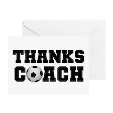Soccer Thanks Coach Greeting Card