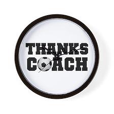 Soccer Thanks Coach Wall Clock