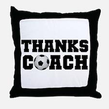 Soccer Thanks Coach Throw Pillow