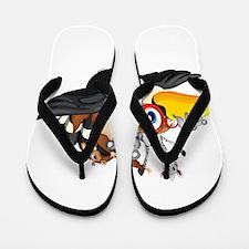 Cute cartoon animals Flip Flops